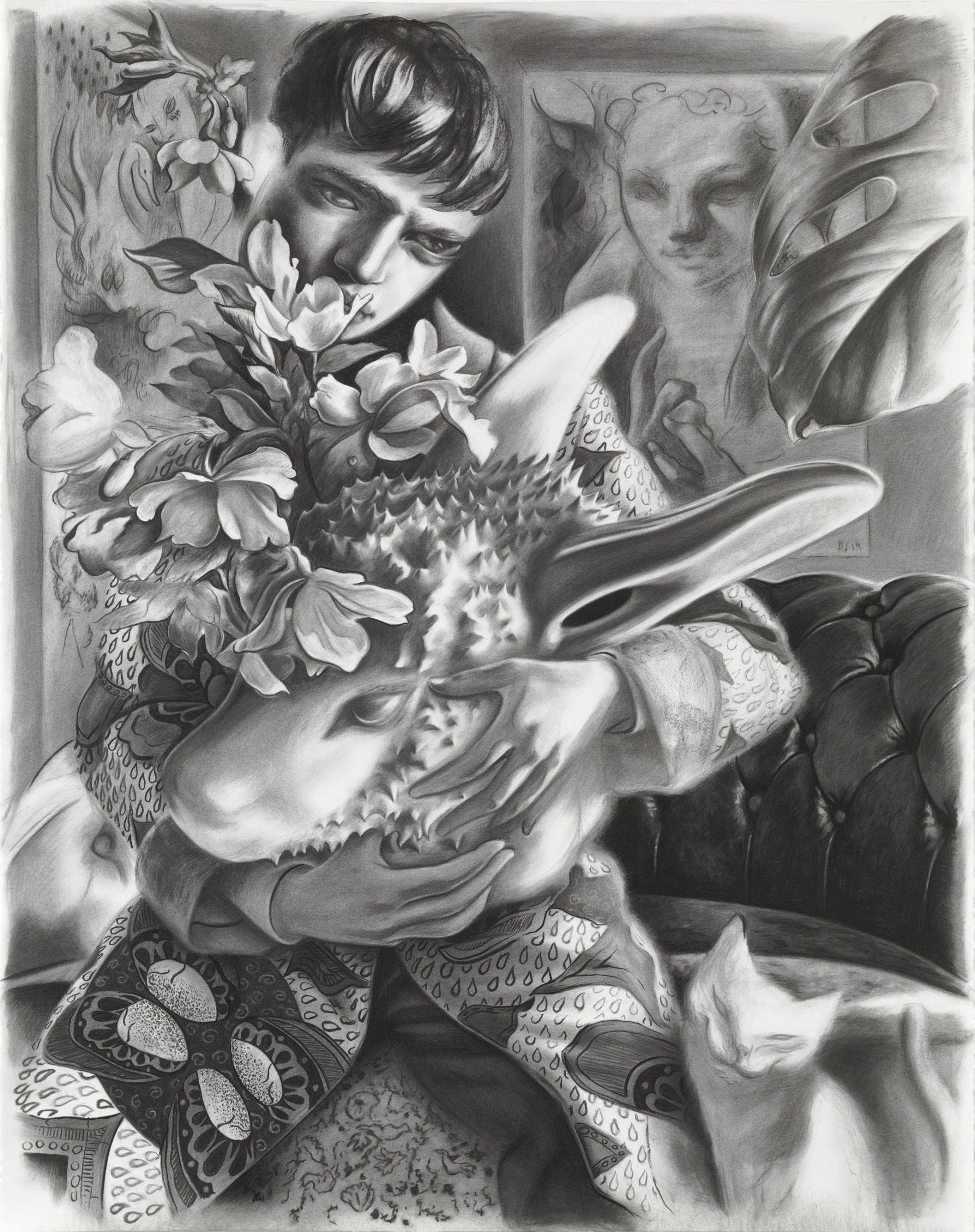 Dennis Scholl Gefährdende Spiele Artist Drawing